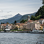 Europe Italy Lake Como Bellagio historic town beautiful mountains scenic waterfront boat dock - luxury vacation destinations