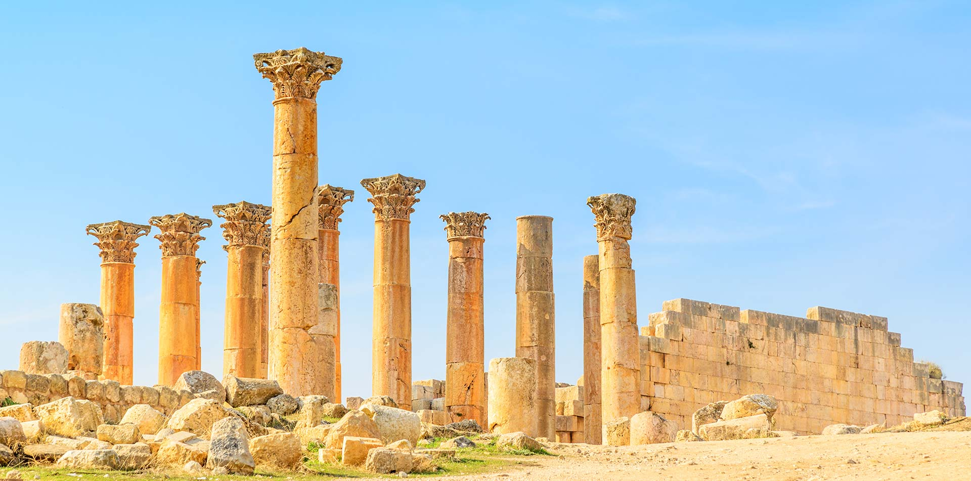 Turkey Ephesus columns in the ruins of the Greek Temple of Artemis - luxury vacation destinations