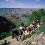 North America United States Arizona Grand Canyon National Park group horseback ride red rock - luxury vacation destinations