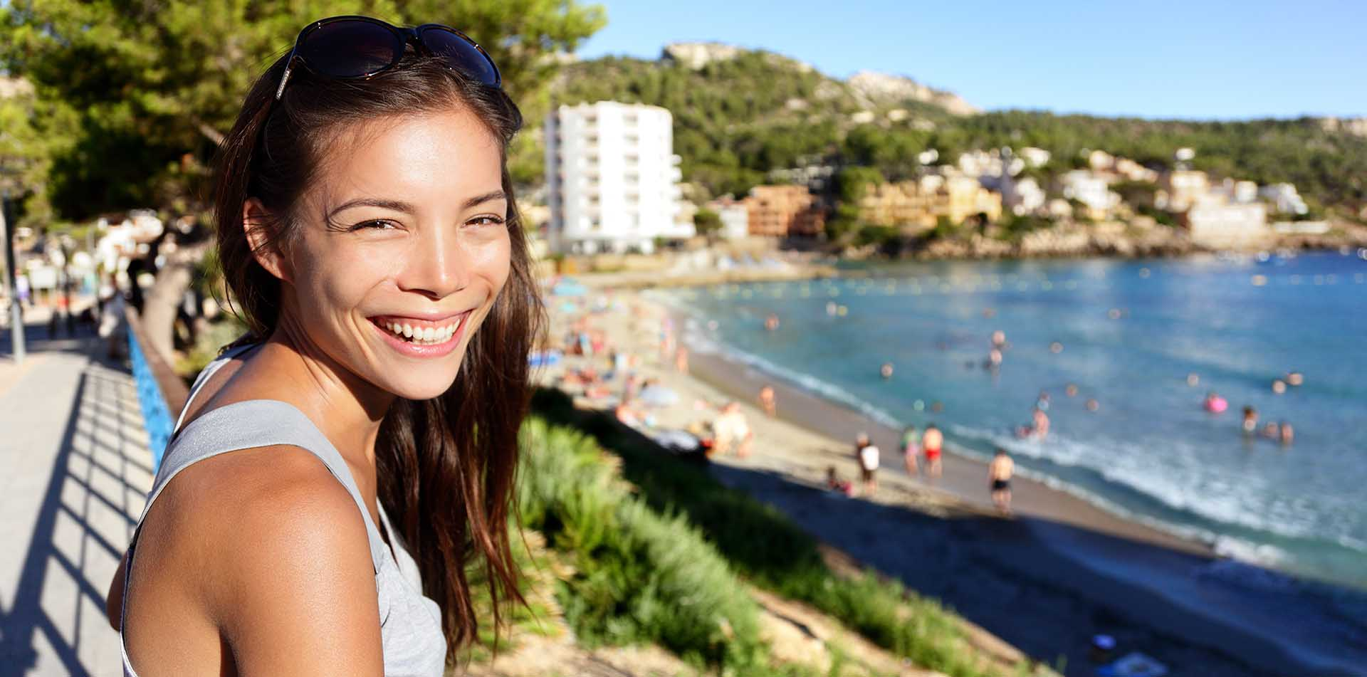 Young girl on Mediterranean, Spain