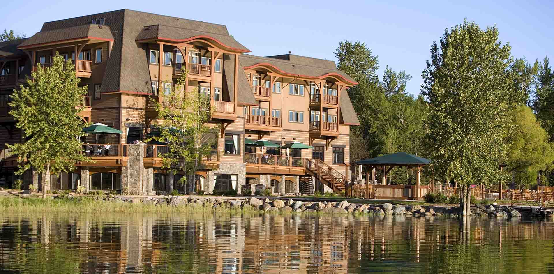 North America United States Whitefish Montana The Lodge at Whitefish Lake relaxing outdoors - luxury vacation destinations