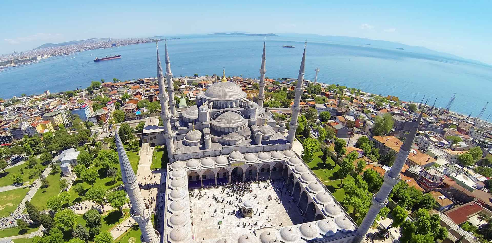 Turkey Istanbul aerial view of Hippodrome of Constantinople Sultanahmet Square - luxury vacation destinations