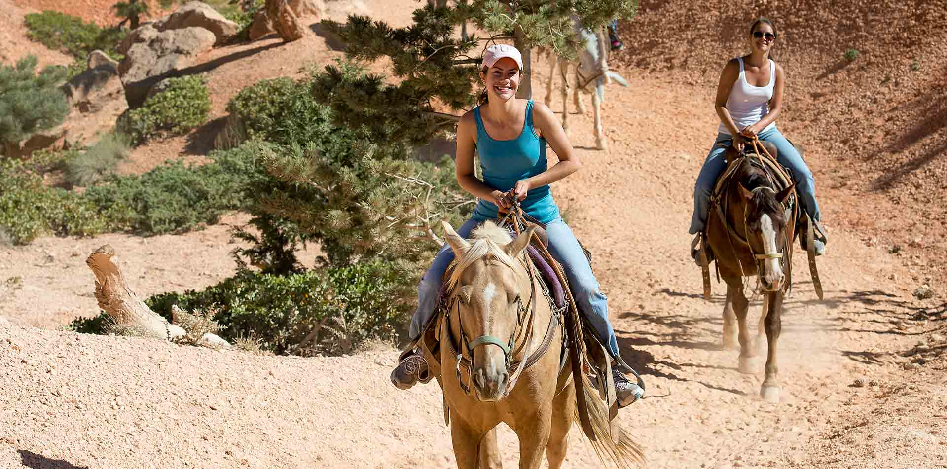 North America United States Utah Bryce Canyon National Park horseback riding nature rock trail - luxury vacation destinations