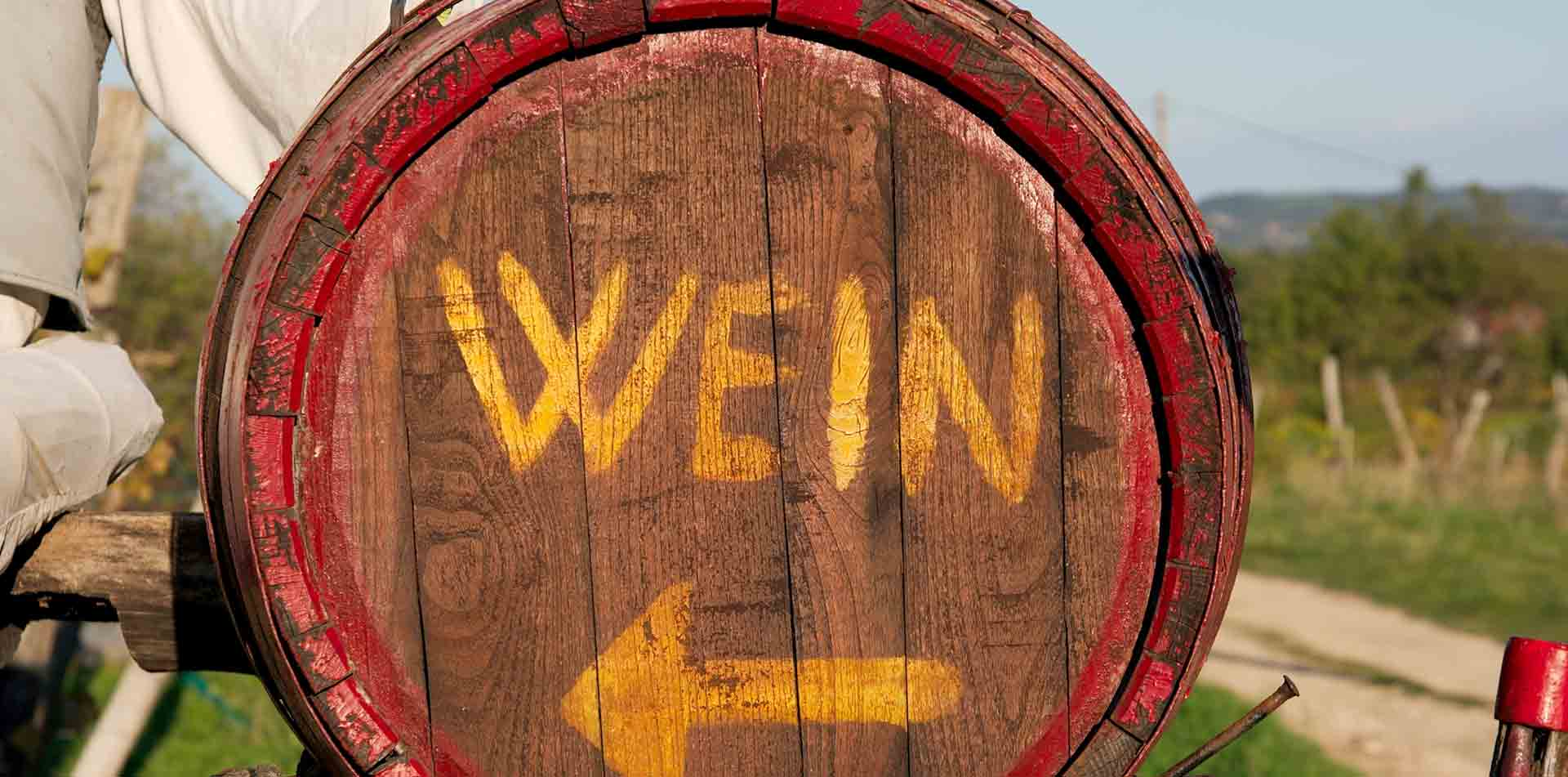 Wine sign in Austria