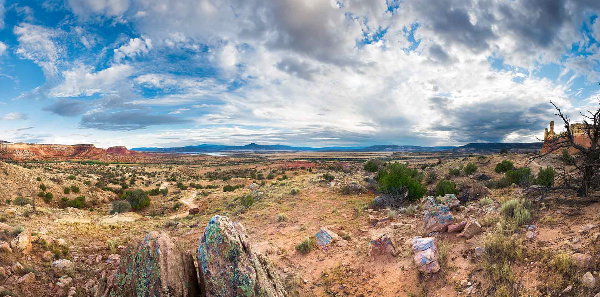 Panoramic of Red Rocks, New Mexico