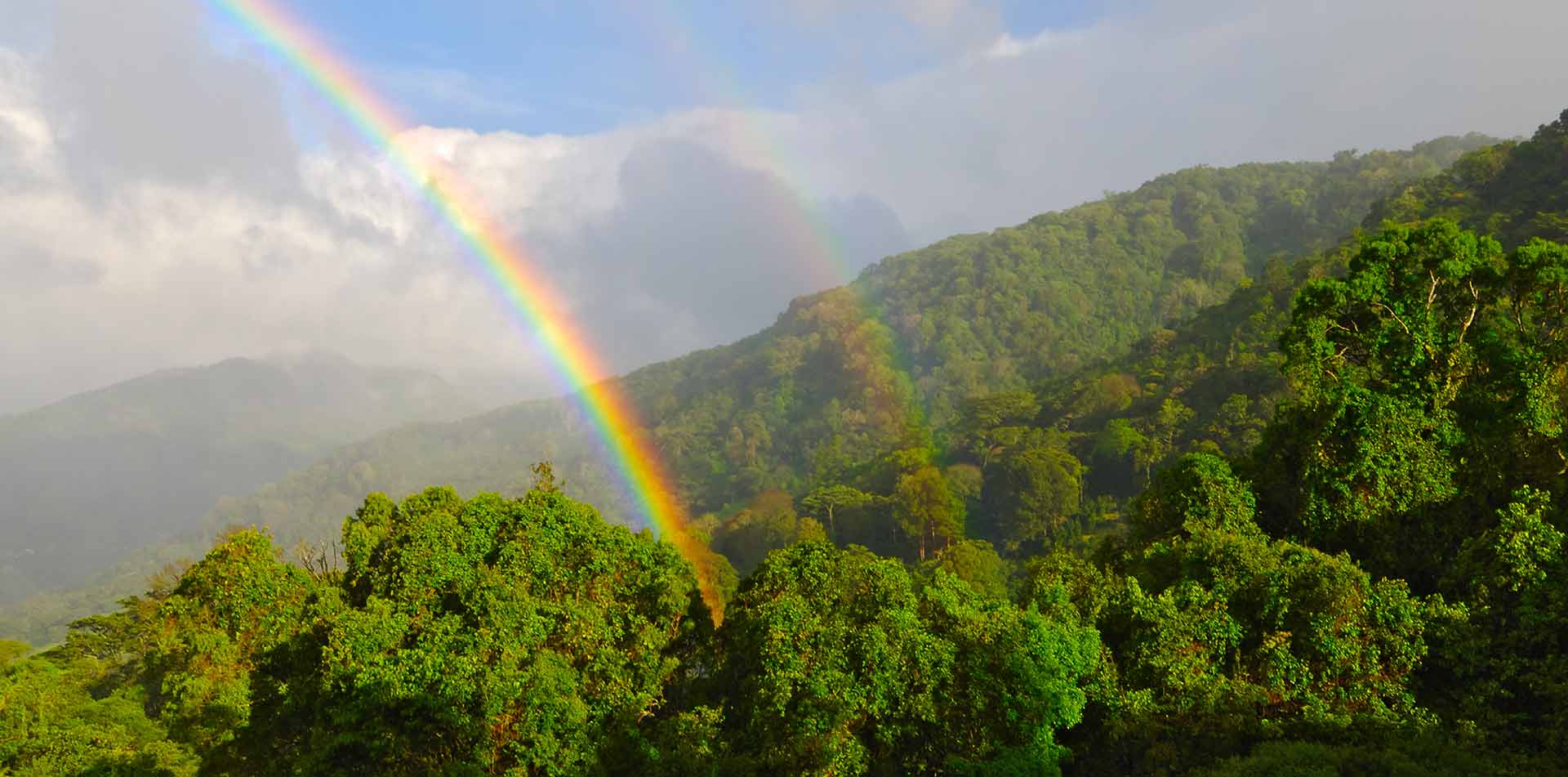 Central America Panama double rainbow over the forest in Boquete - luxury vacation destinations