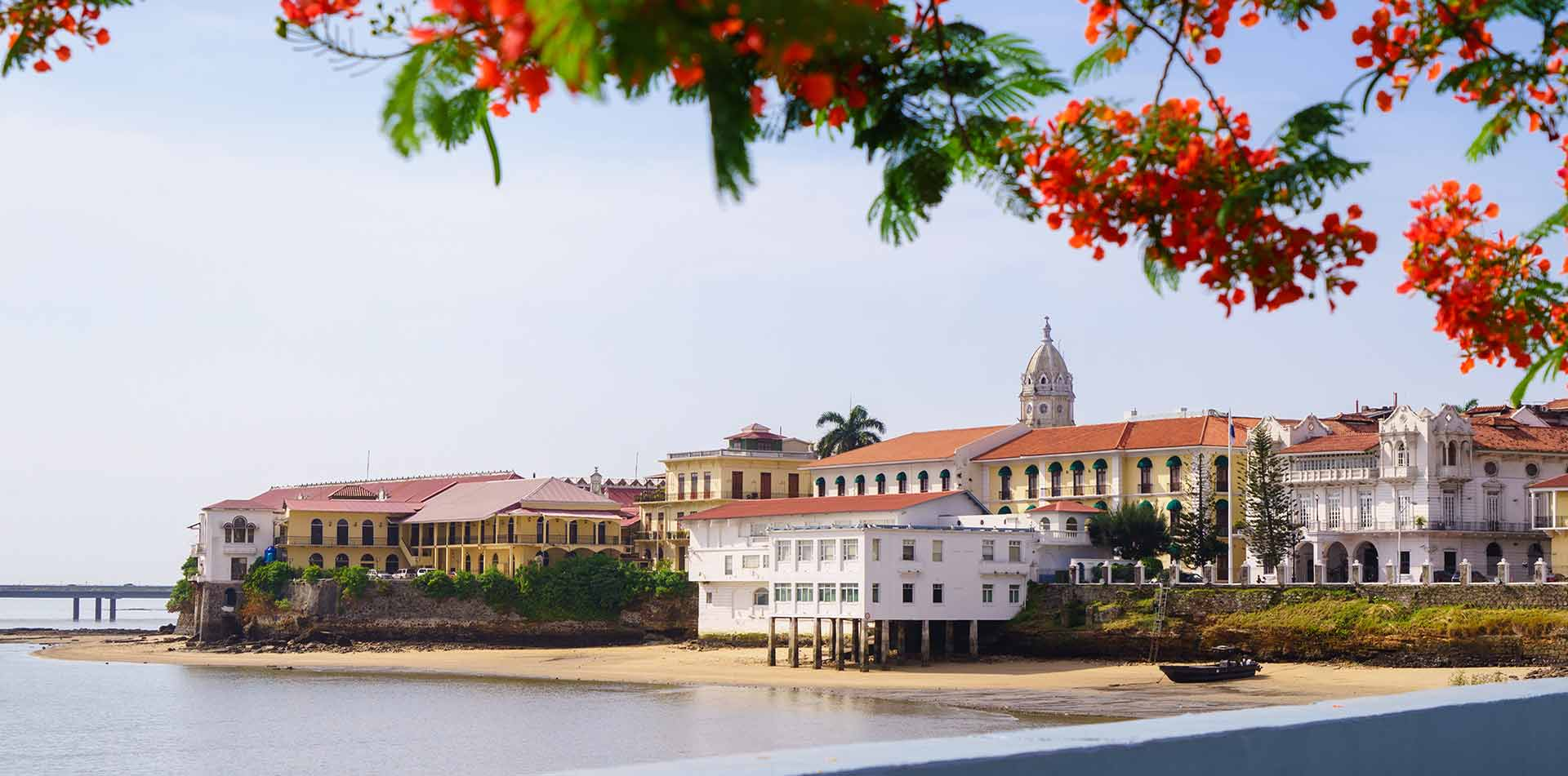 Central America Panama historic buildings along the coast - luxury vacation destinations