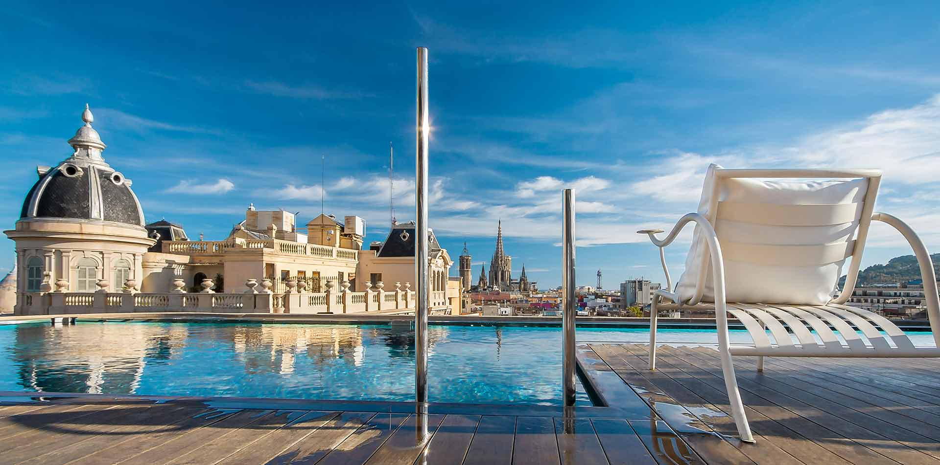 Rooftop Pool at Ohla Hotel in Barcelona, Spain