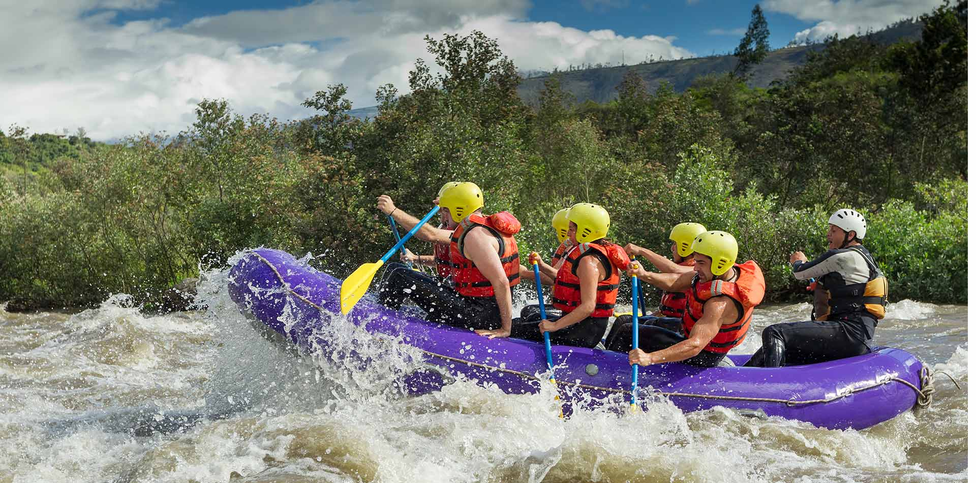 South America Peru Urubamba River young adventurous group whitewater rafting - luxury vacation destinations