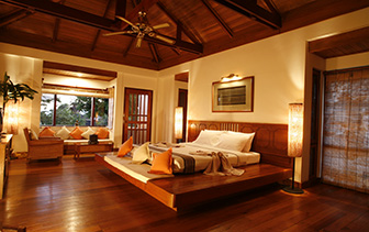 Asia Myanmar Nyaung Shwe Township Inle Lake View Resort traditional teak Burmese decor   - luxury vacation destinations