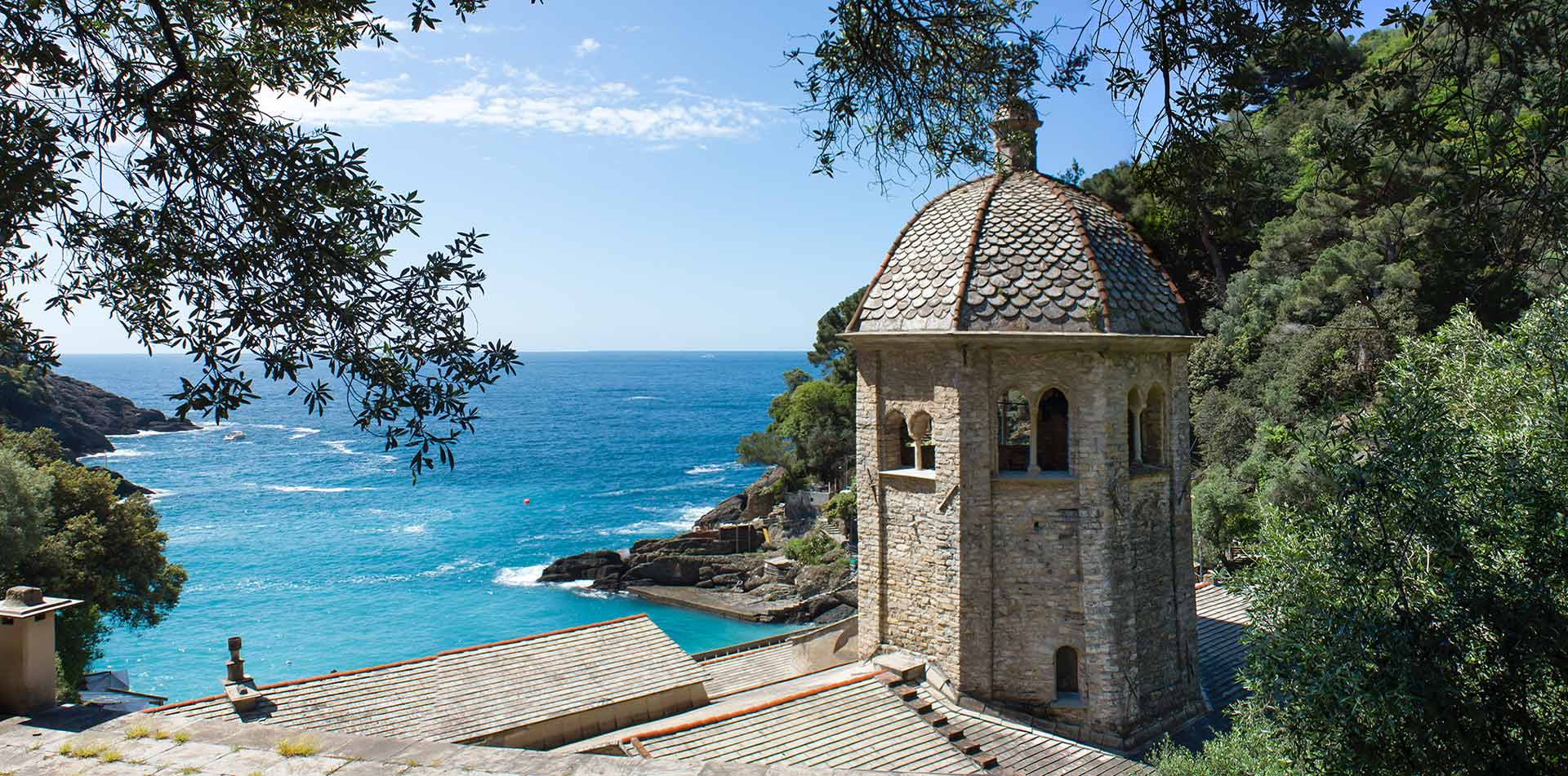 Europe Italy historic Abbey of San Fruttuoso beautiful turquoise water - luxury vacation destinations