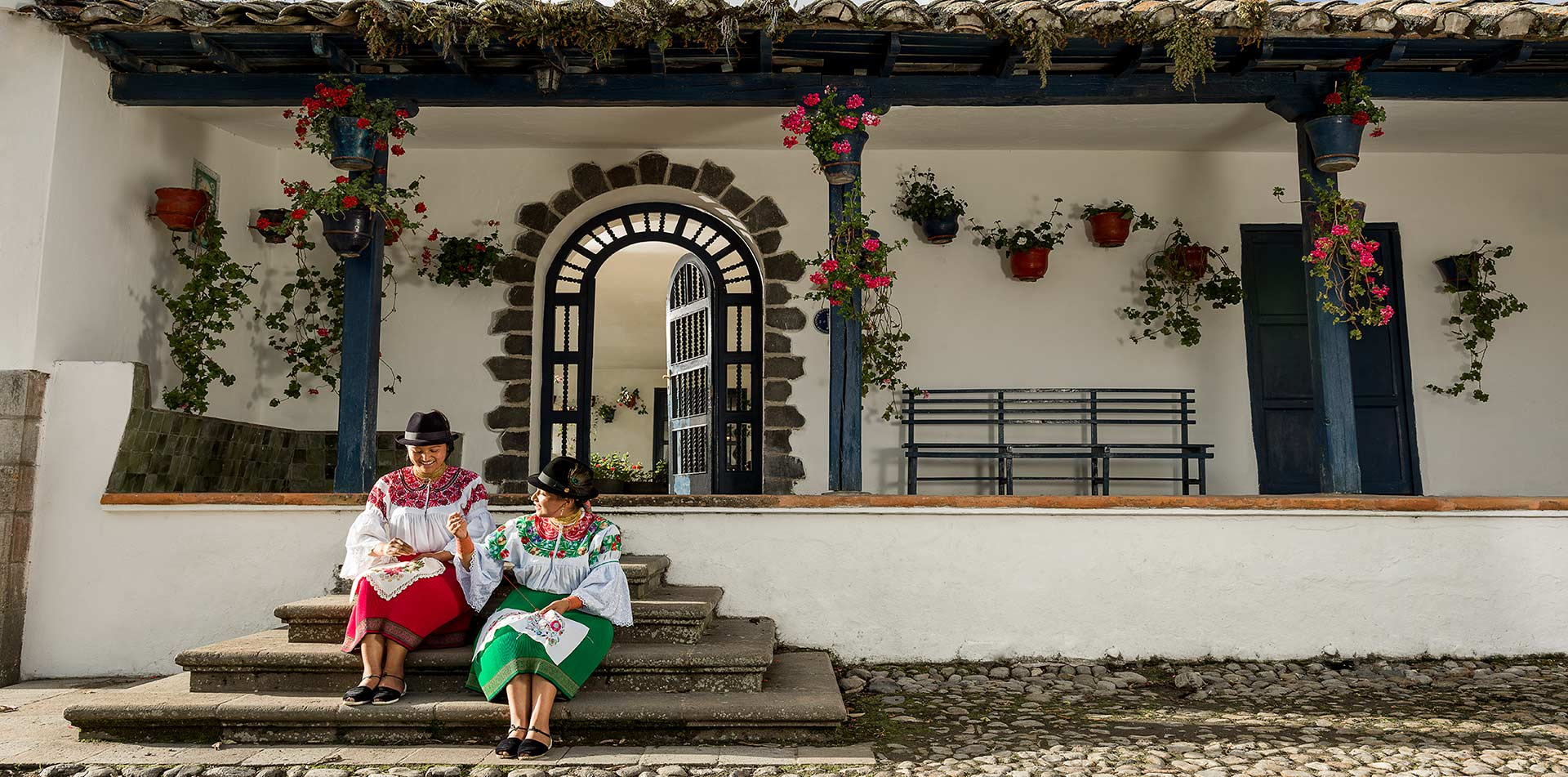 Women at Hotel Zuleta, Ecuador