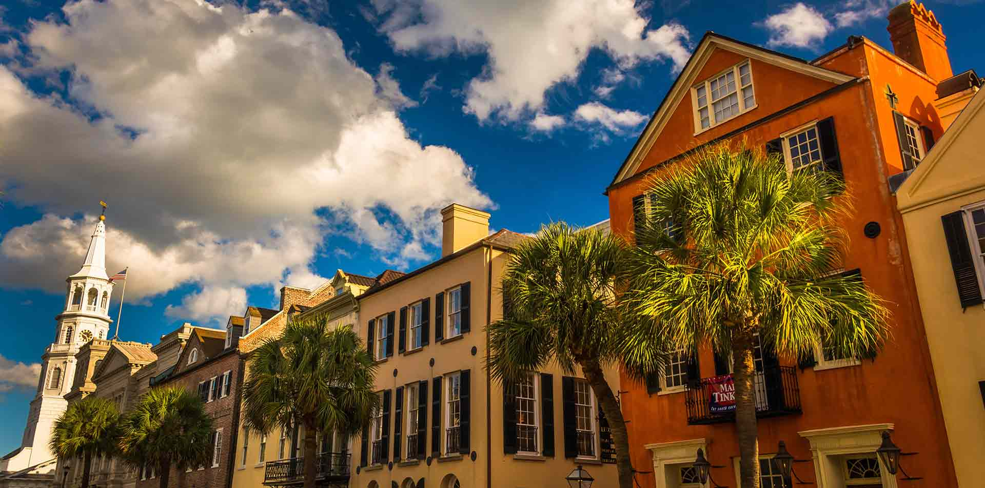 North America United States South Carolina Charleston Broad Street historic colorful buildings - luxury vacation destinations