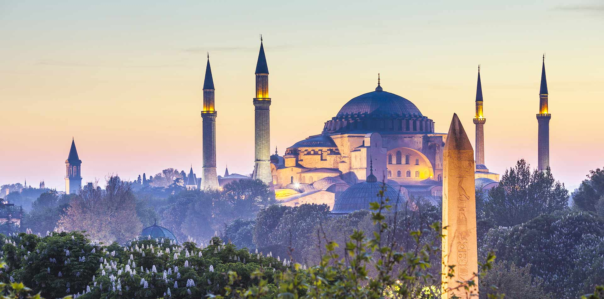 Blue Mosque in Istanbul at Dusk, Turkey