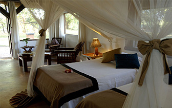 Africa Zambia Mfuwe Kapani Lodge relaxing peaceful accommodations walk-in mosquito net - luxury vacation destinations