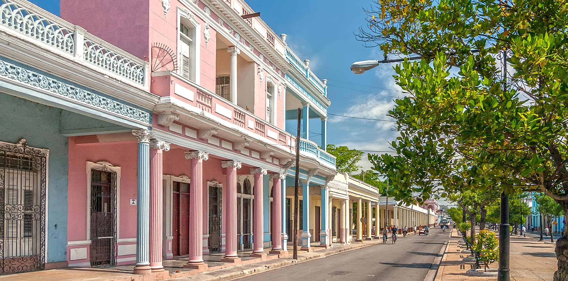 Traditional Colonial Style Buildings in Cienfuegos, Cuba
