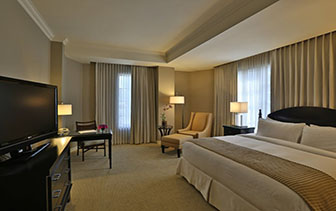 Central America Panama The Bristol Panama City hotel spacious guest bedroom - luxury vacation destinations