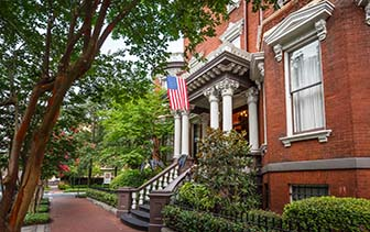 North America United States Georgia Savannah historic Kehoe House brick exterior - luxury vacation destinations
