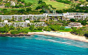 North America USA Hawaii Kohala Coast Westin Hapuna Beach Resort blue ocean white beach lush - luxury vacation destinations