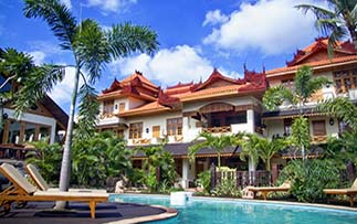 Asia Myanmar Mandalay Hotel by the Red Canal relaxing tropical pool temple style architecture - luxury vacation destinations
