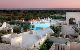 Europe Italy Puglia Southern Italy Hotel Borgo Egnazia beautiful view of swimming pool-luxury vacation destinations