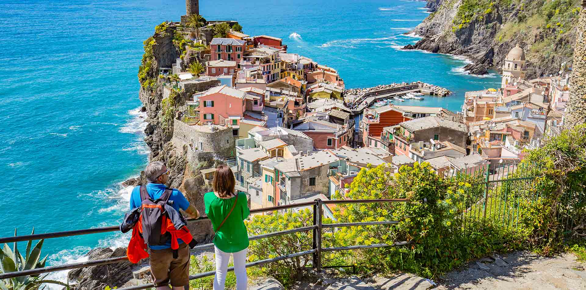 Guests Overlooking the Cinque Terre