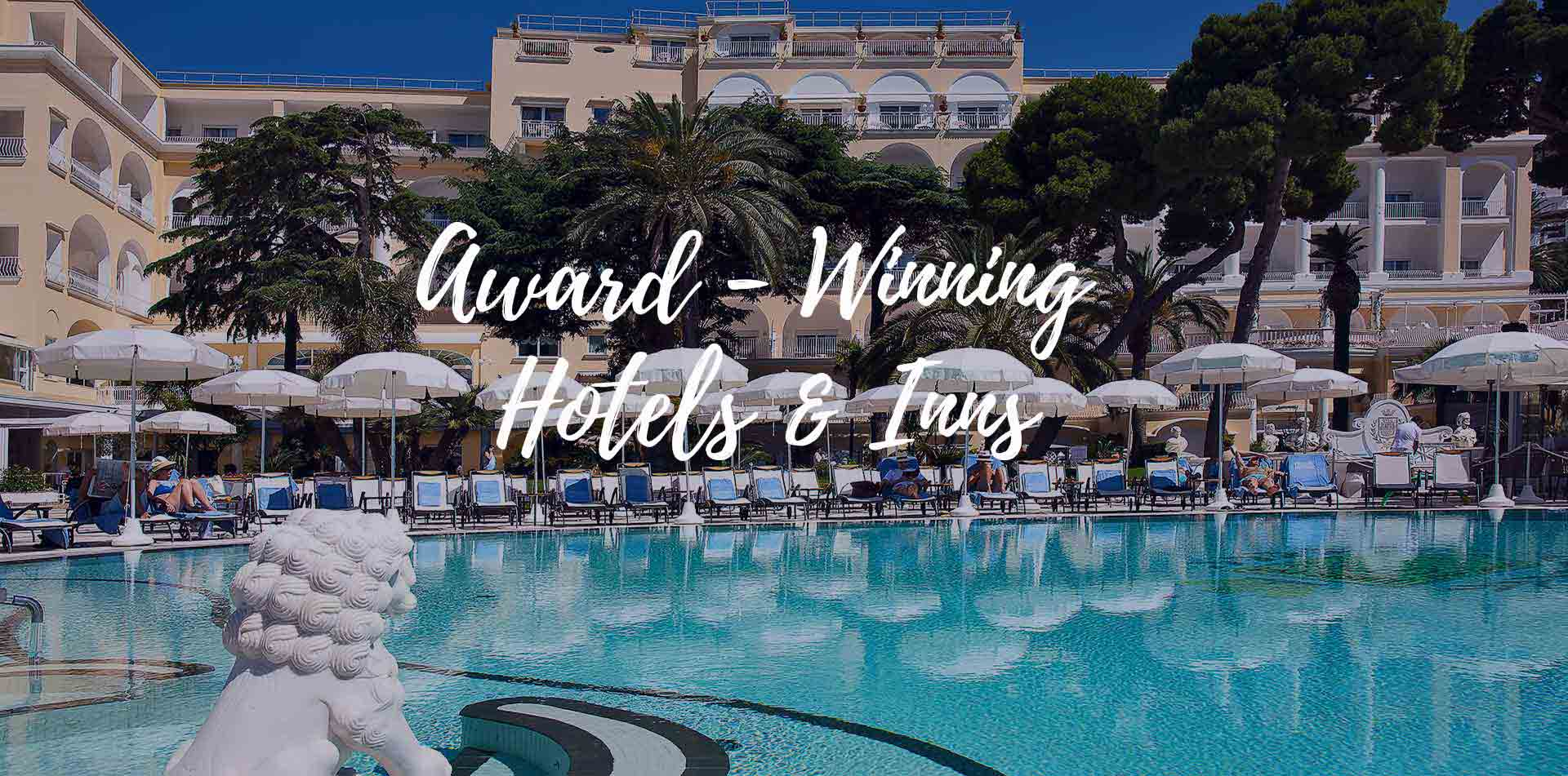 Europe Italy Amalfi Coast Capri Quisisana Hotel large pool Award-Winning hotels and inns - luxury vacation destinations