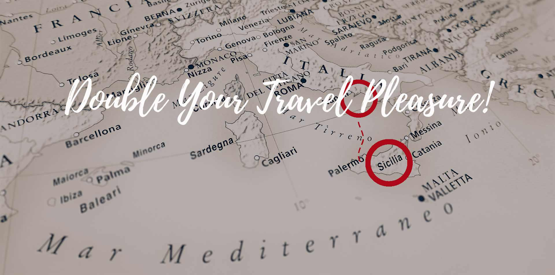 Map of Europe Naples and Sicily Double Your Travel Pleasure back to back tours - luxury vacation destinations