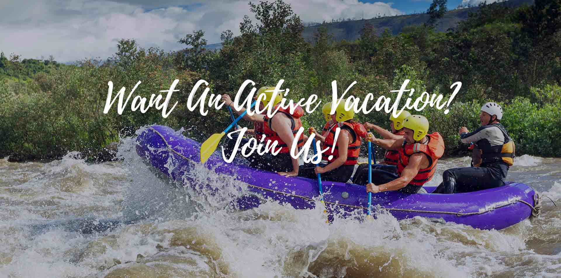 South America Peru Urubamba River group whitewater rafting Want an active vacation join us - luxury vacation destinations