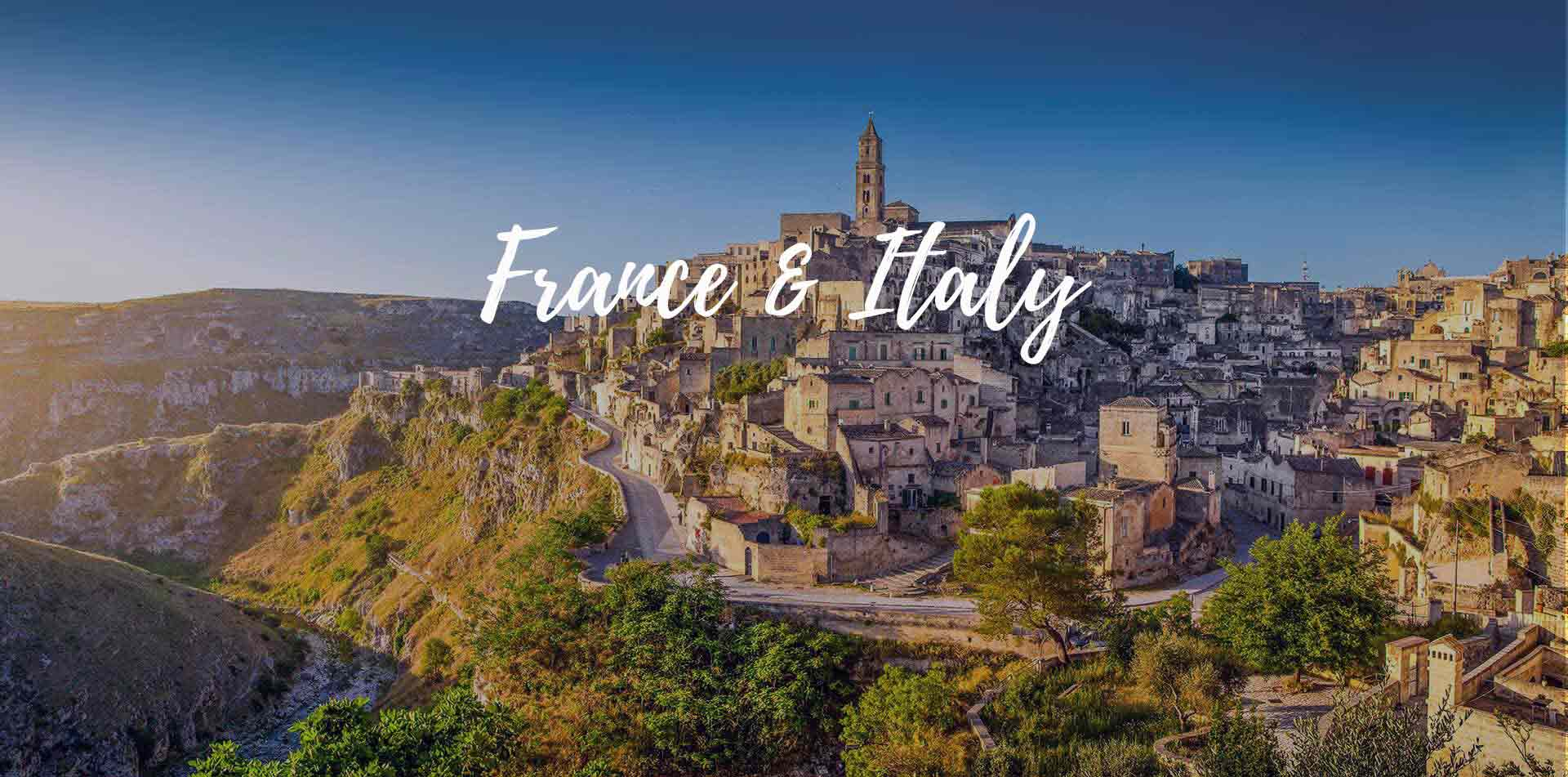 Europe France Italy view of cliffside town - luxury vacation destinations