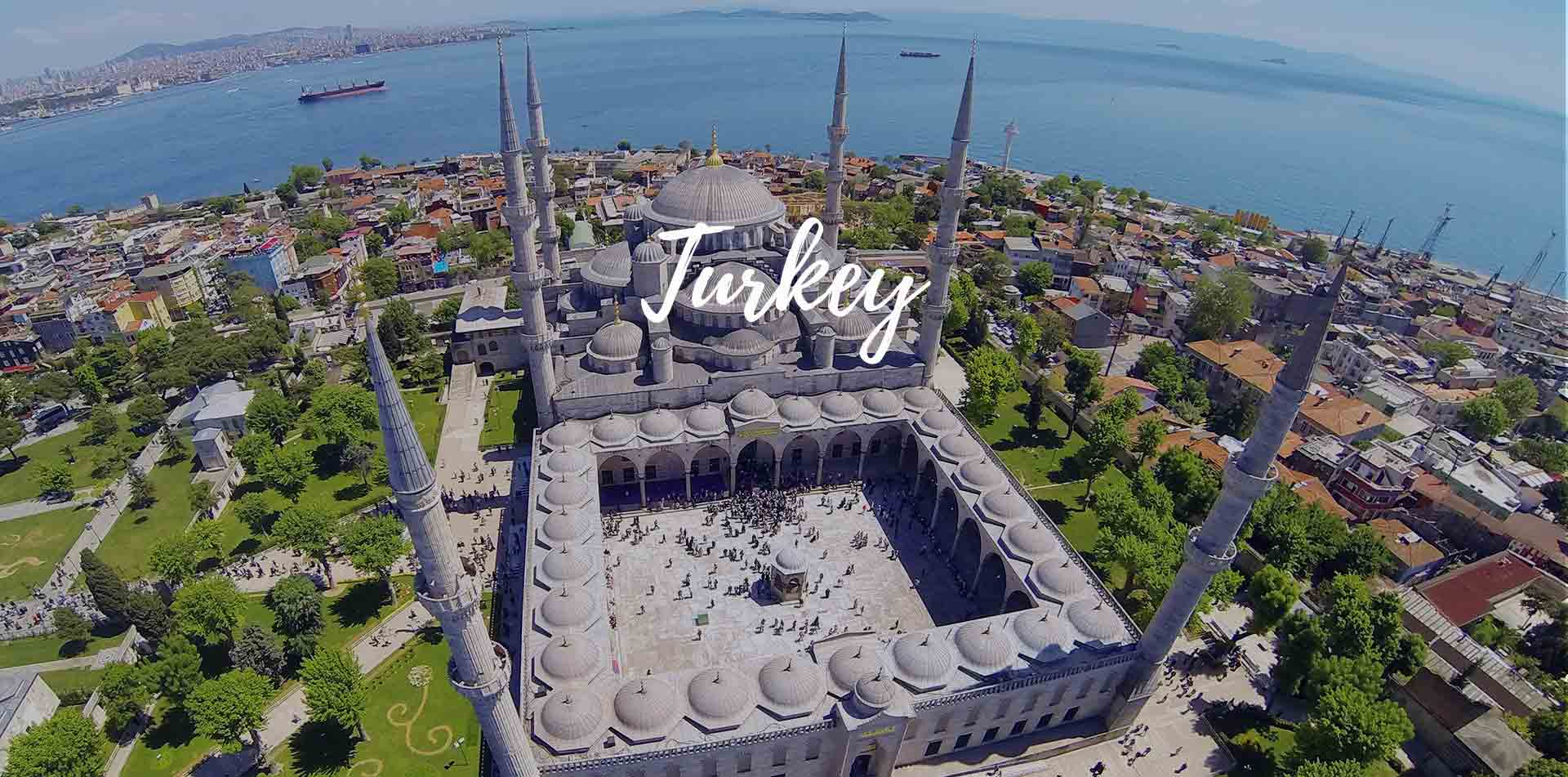 Turkey Istanbul aerial view of Hagia Sophia Museum and minarets - luxury vacation destinations