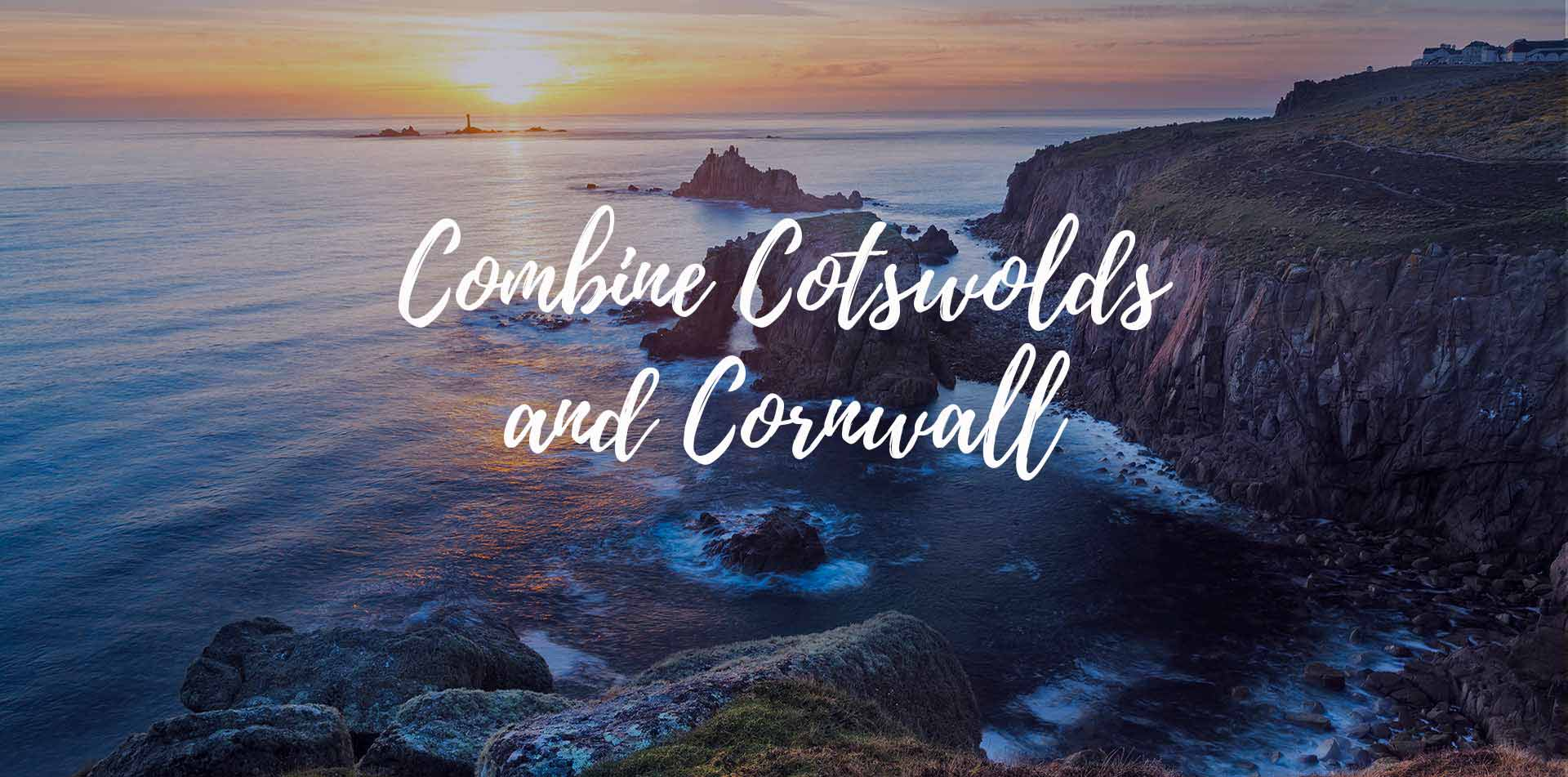 Europe England Combine Cotswolds and Cornwall beautiful coastal cliffs - luxury vacation destinations