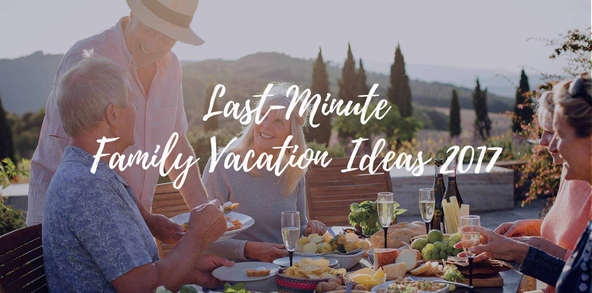 Europe travelers enjoying an al fresco lunch Last-Minute Family Vacation Ideas 2017 - luxury vacation destinations