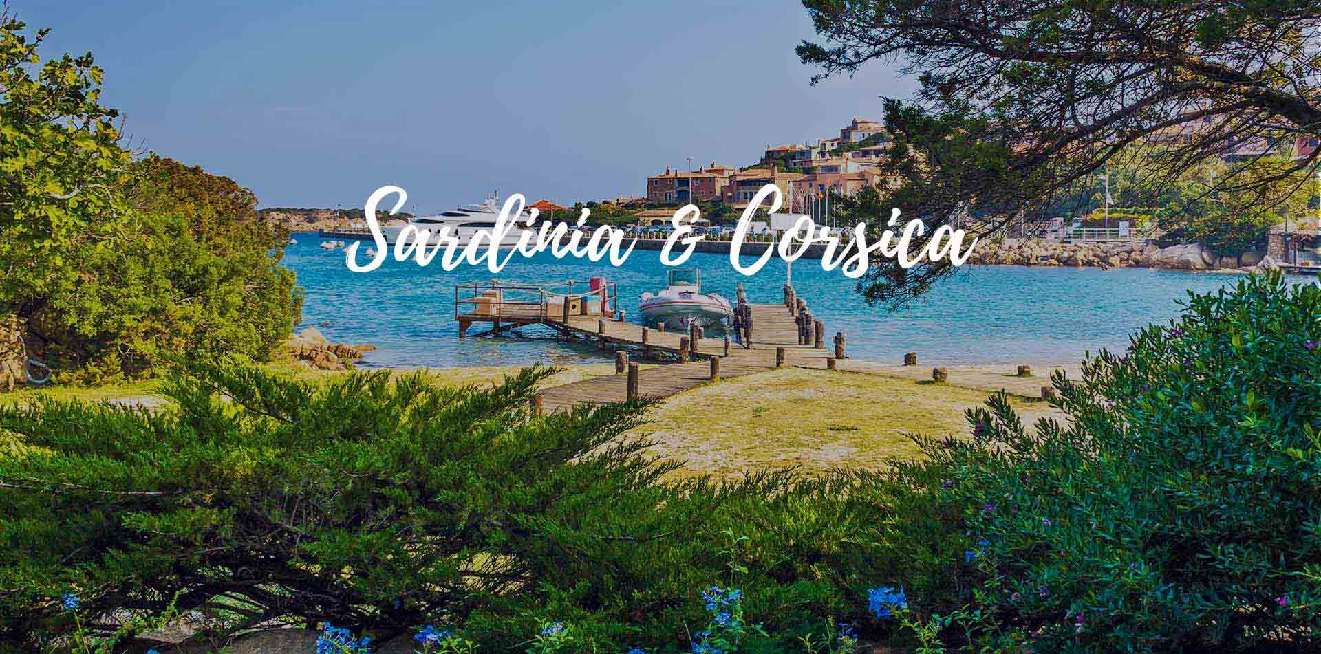Europe Italy Sardinia and Corsica Porto Cervo scenic beach old town lush landscape wood dock - luxury vacation destinations