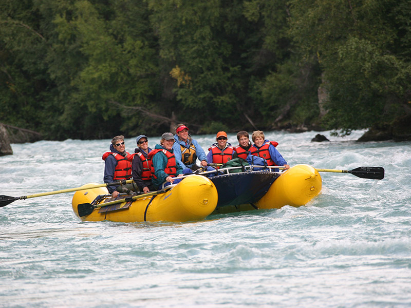North America United States Alaska Kenai River happy group smiling rafting adventure nature - luxury vacation destinations