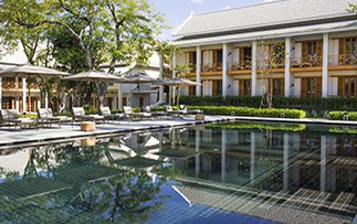 Asia Laos Avani+ Azerai Luang Prabang hotel outdoor pool interior courtyard - luxury vacation destinations