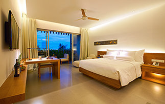 Asia Vietnam Da Nang Naman Retreat hotel spacious guest room with balcony - luxury vacation destinations