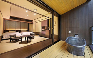 Asia Japan Hakone Kowakien Ten Yu ryokan with western beds and private onsen tub - luxury vacation destinations