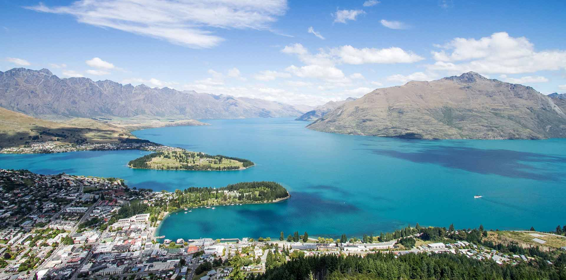 Queenstown Aerial View of the City, New Zealand