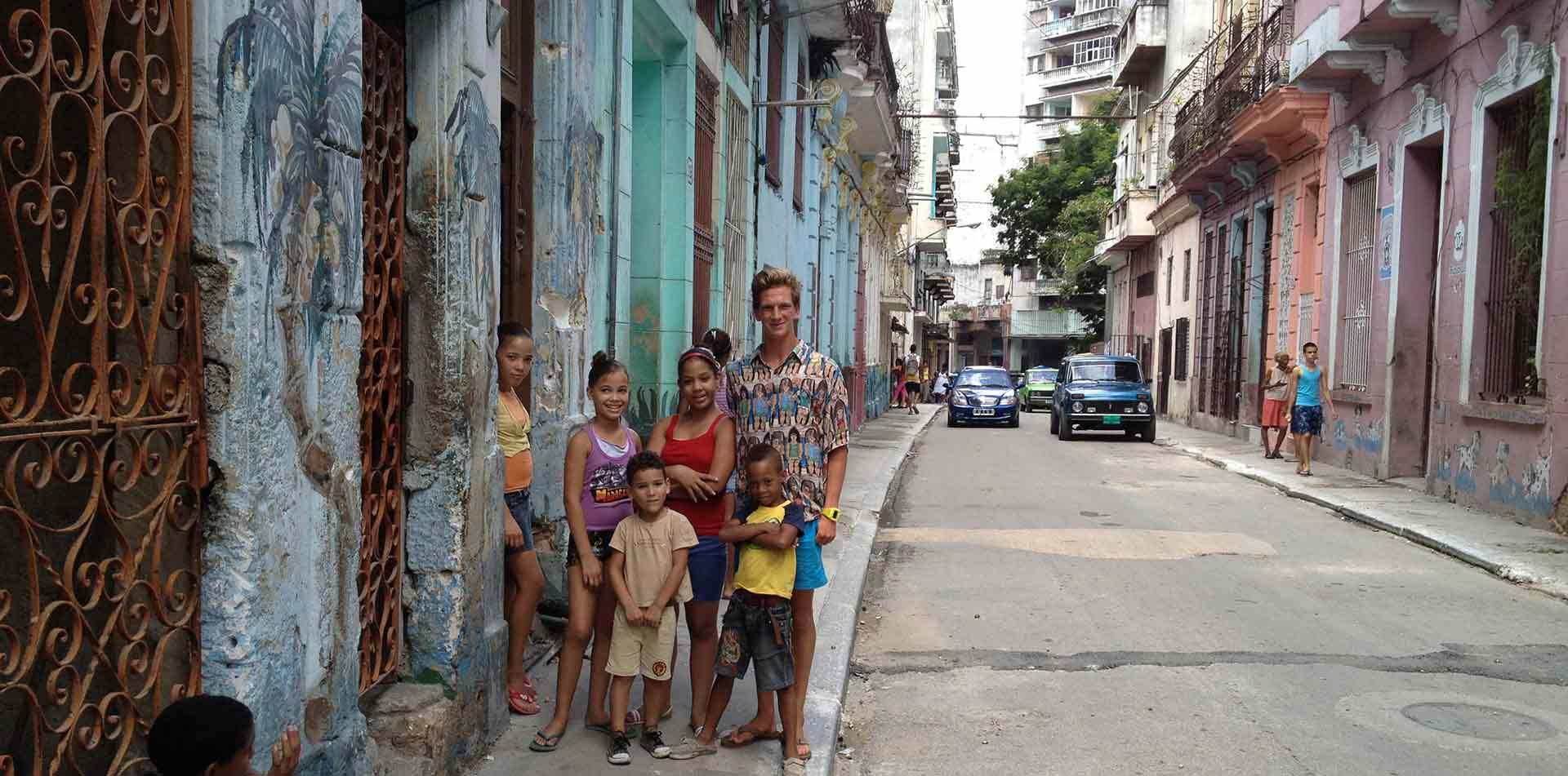 Group of kids in Cuba