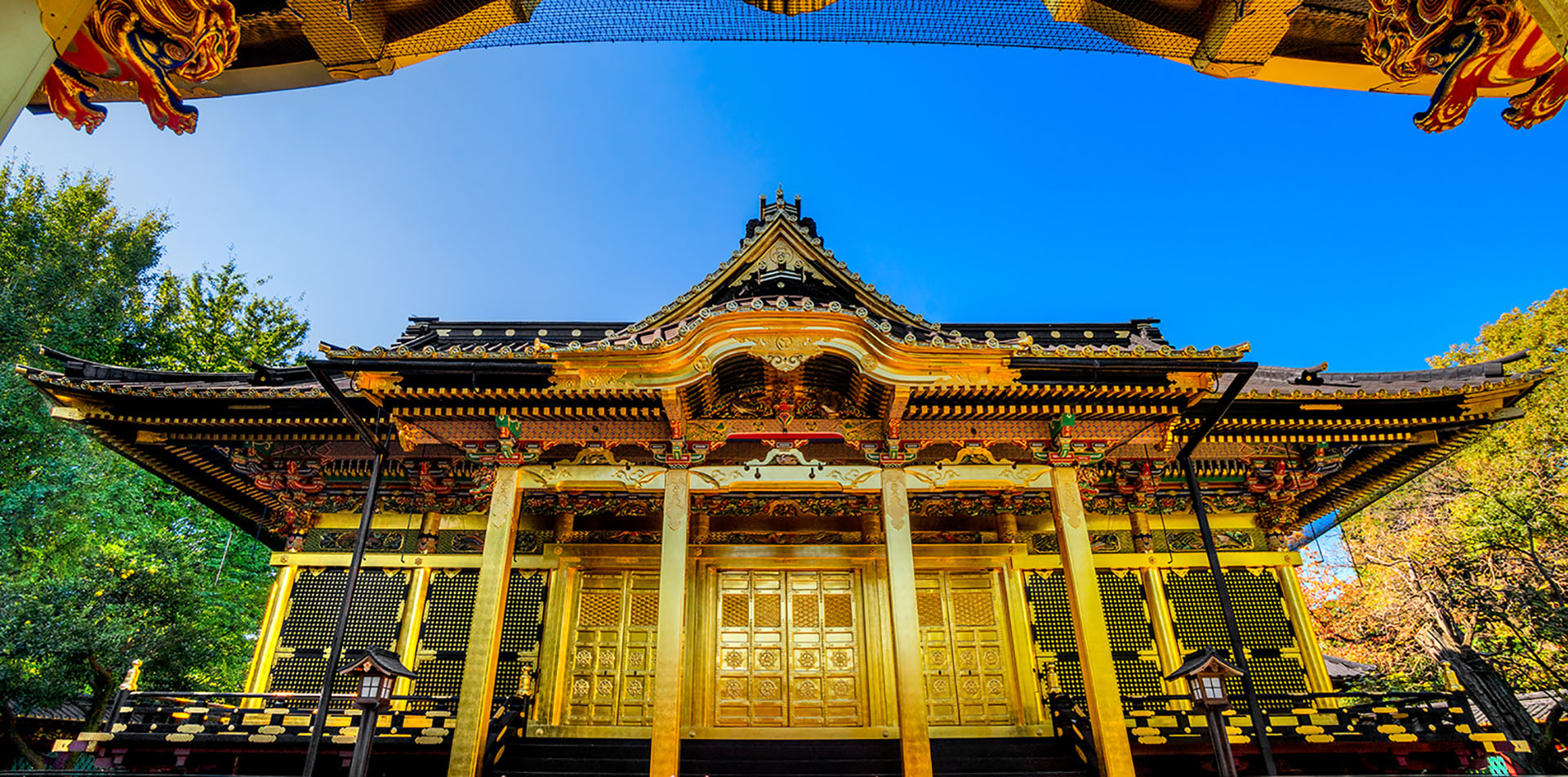Asia Japan Tokyo Ueno Toshogu Shrine golden building in traditional architecture - luxury vacation destinations