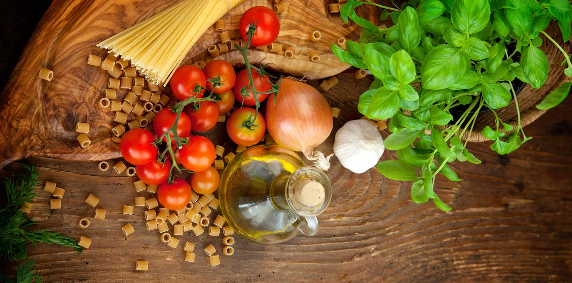 Europe Italy Italian food fresh pasta, spaghetti, homegrown tomatoes, olive oil - luxury vacation destinations
