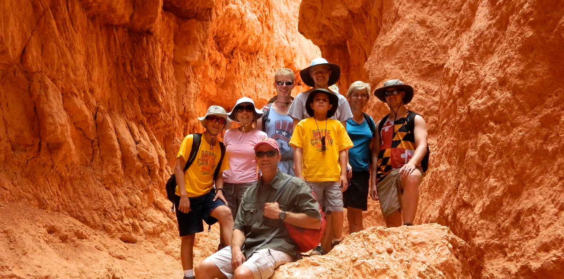 North America United States USA Arizona Grand Canyon National Park red rock hike family photo - luxury vacation destinations