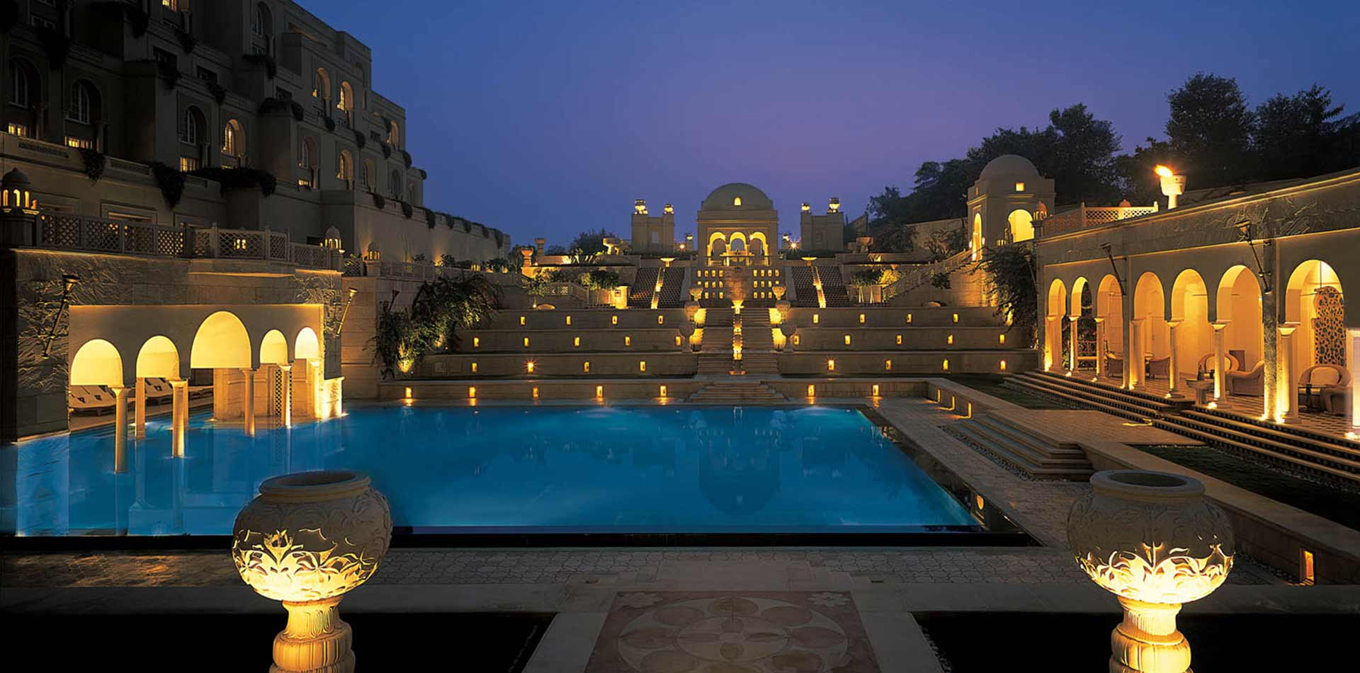 Oberoi Amarvilas pool, India