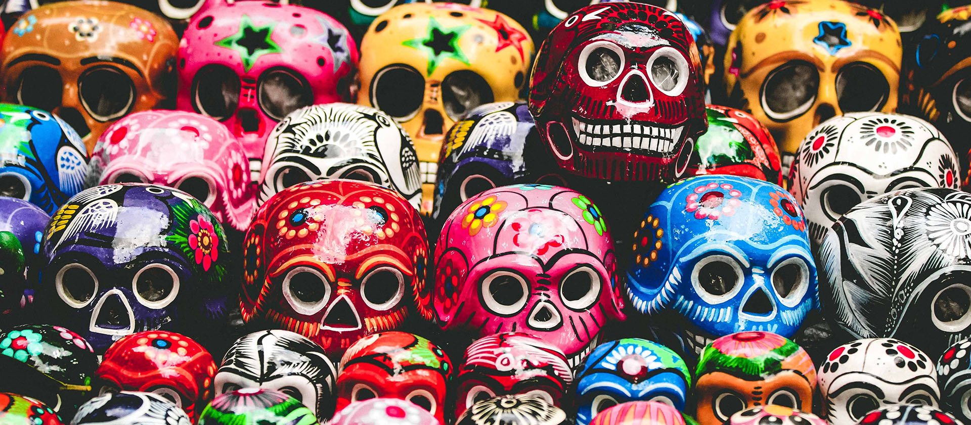 North America US New Mexico Santa Fe Dia de los Muertos painted skulls - luxury vacation destinations