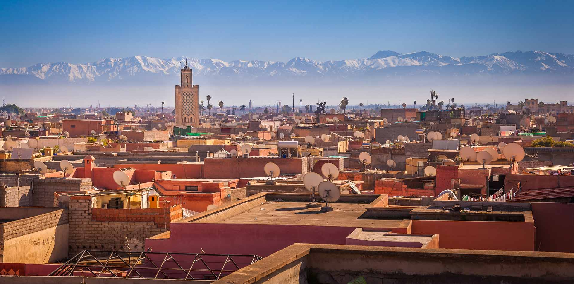 Panoramic of Marrakesh, Morocco