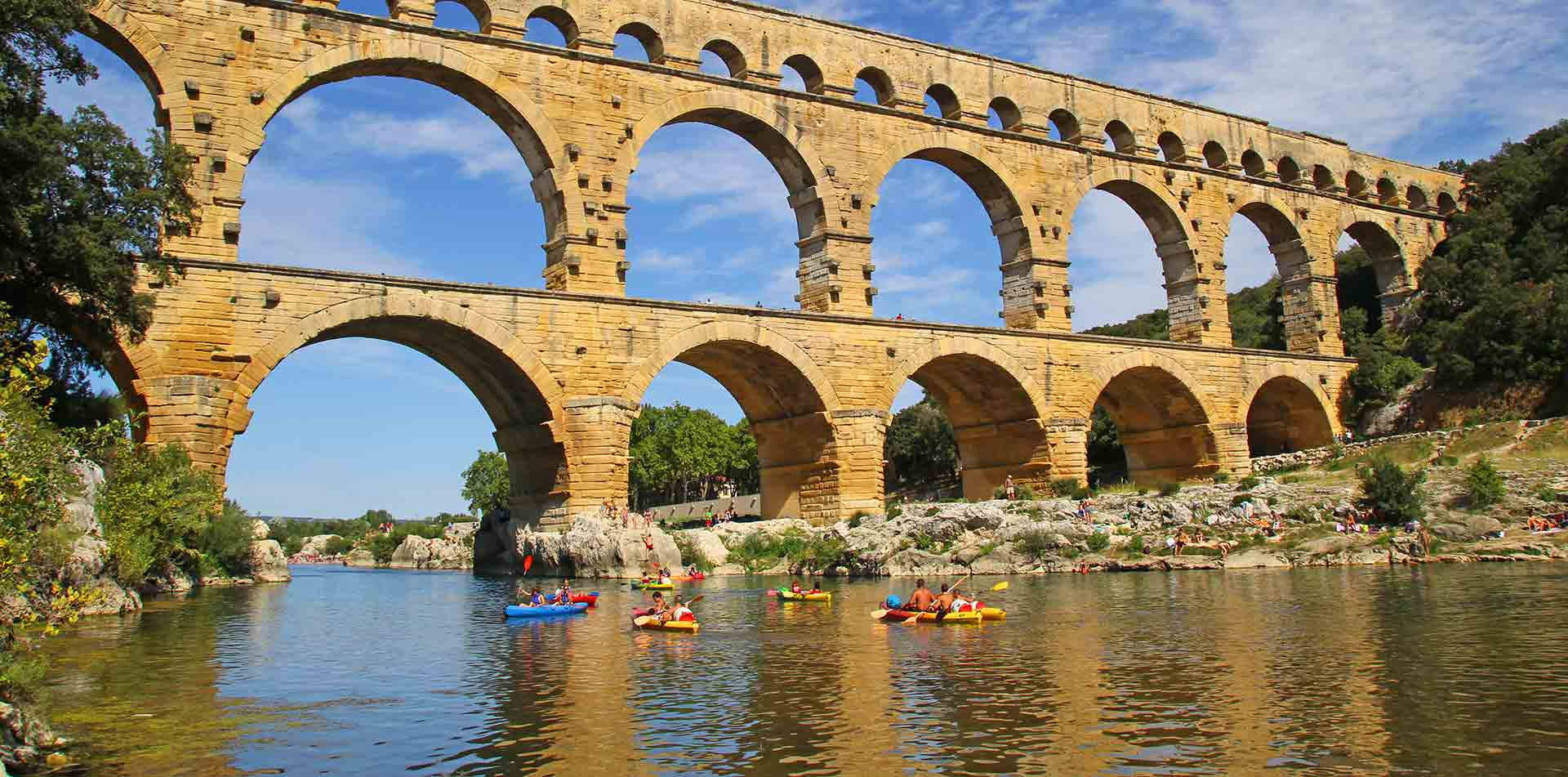 Pont du Gard Kayakers, France