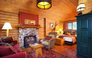 North America Canada British Columbia Yoho Rockies Cathedral Mountain Lodge room cozy - luxury vacation destinations