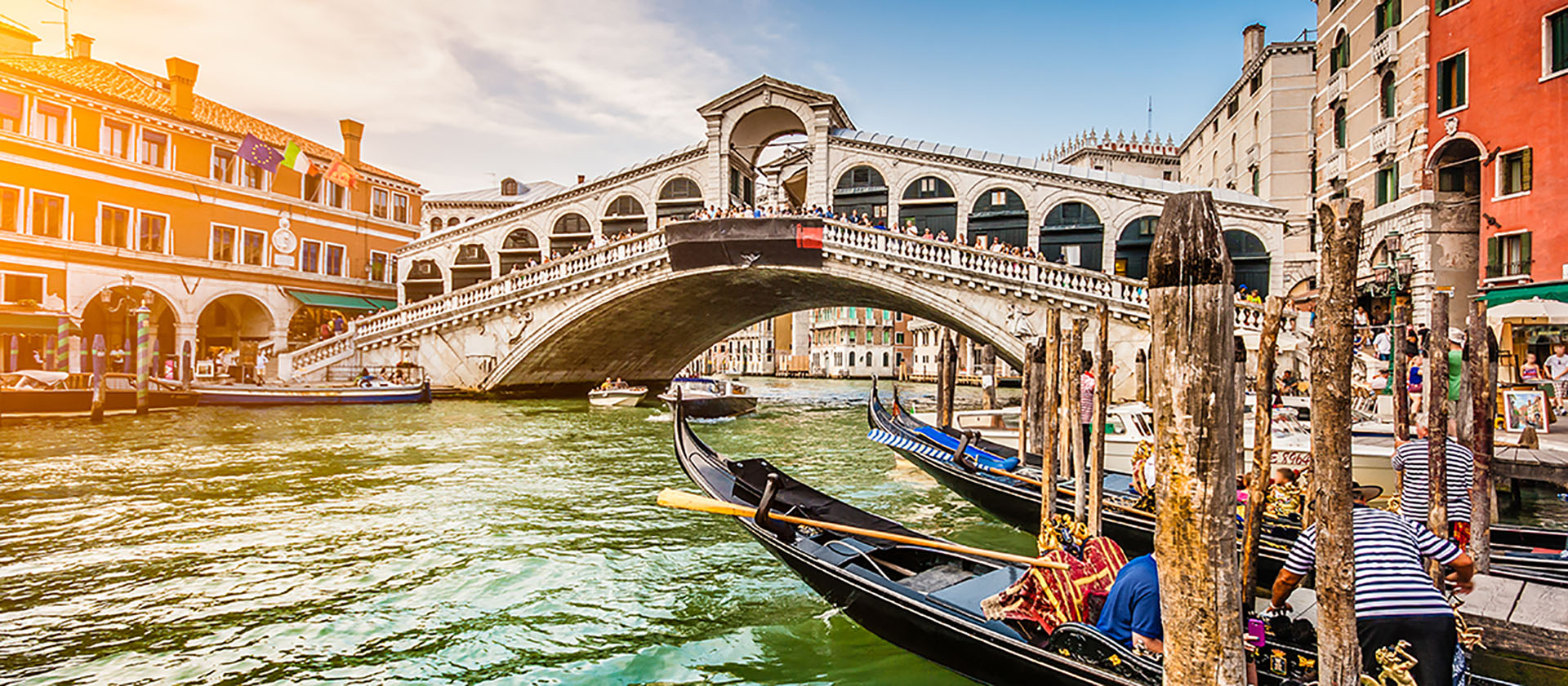 Bridge over a Canal in Venice, Italy