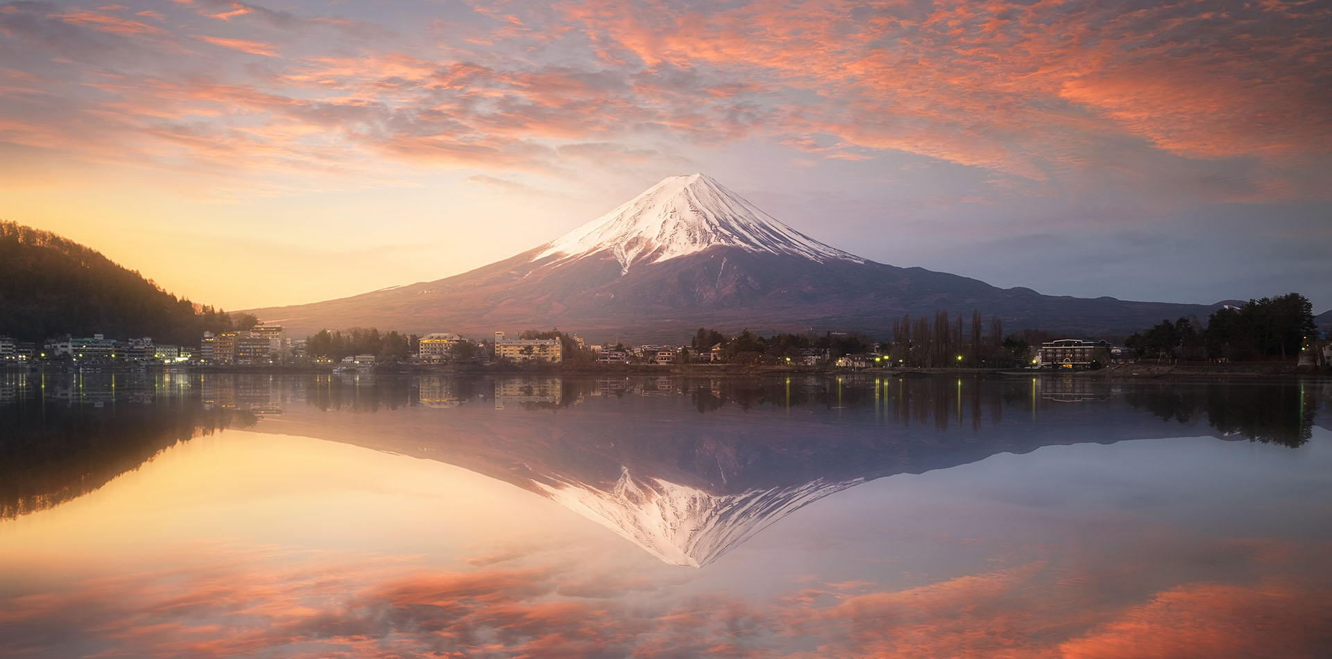 Mt. Fuji in Japan at sunrise